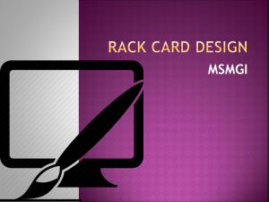Rack Card Design San Diego